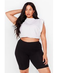 Nasty Gal - Plus Size Longline Cycling Shorts - Lyst