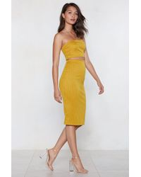 Nasty Gal - Come Into Line Pinstripe Crop Top And Skirt - Lyst