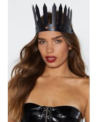 Nasty Gal - Hey Queen Faux Leather Crown - Lyst