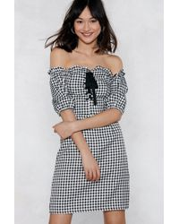 Nasty Gal - Almost Square Gingham Dress - Lyst
