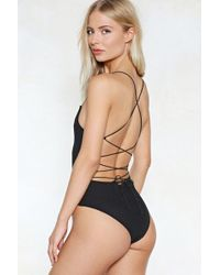 Nasty Gal | Back In Business Strappy Bodysuit | Lyst