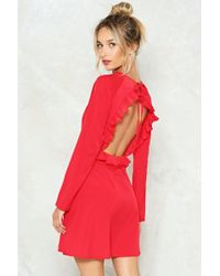 Nasty Gal - Back On Your Feet Ruffle Dress - Lyst