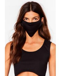 Nasty Gal No Strings Attached 2-pc Fashion Face Masks - Black