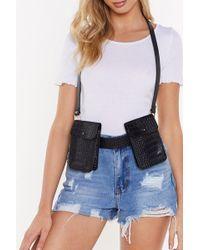Nasty Gal - I'm Off The Croc Multi Pocket Harness Belt - Lyst