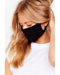 Nasty Gal Face It All Fashion Face Mask - Black