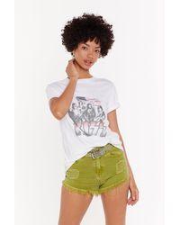 Nasty Gal I Raw What You Did Denim Shorts - Multicolour