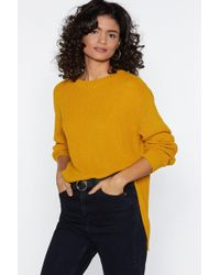 Nasty Gal - Call Knit Even Sweater - Lyst