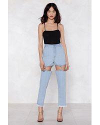 Nasty Gal - Keep 'em In Suspender Mom Jeans - Lyst