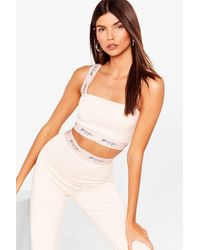 Nasty Gal Word On The Street Square Neck Crop Top - White