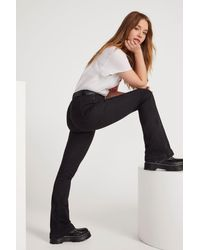 """Nasty Gal """"donna High-waisted Flare Jeans"""" - Black"""