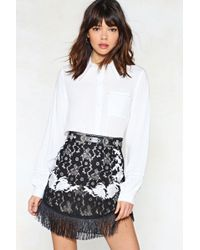 Nasty Gal - Use Your Thread Embroidered Skirt - Lyst
