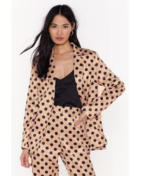 "Nasty Gal ""i've Spot Talent Satin Blazer"" - Multicolour"