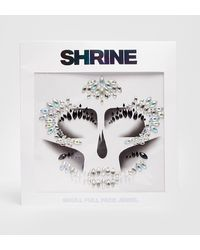 Nasty Gal Shrine Skeleton Full Face Jewels - Metallic