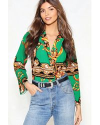 Nasty Gal - Your Future Looks Bright Scarf Bodysuit - Lyst