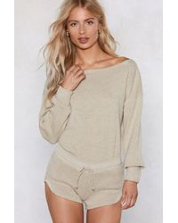 Nasty Gal - Kick Back And Relax Lounge Set - Lyst