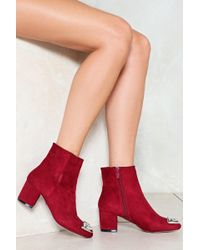 Nasty Gal | Toe And Behold Embellished Boot | Lyst