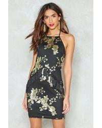 Nasty Gal - Sequin Halterneck Mini Dress Sequin Halterneck Mini Dress - Lyst
