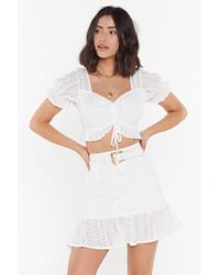 """Nasty Gal """"the Warmth Of The Sun Broderie Anglaise Mini Skirt"""" - White"""