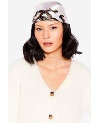 Nasty Gal Satin Leopard Print Headscarf - Multicolour