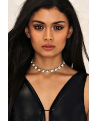 Nasty Gal | Chunky Diamante Wide Set Choker | Lyst