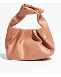 Nasty Gal Want Slouching Around Faux Leather Bag - Brown