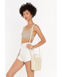 "Nasty Gal ""straw Cross Body Bag"" - Natural"