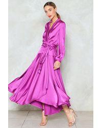 "Nasty Gal ""steal The Spotlight Satin Dress"" - Purple"