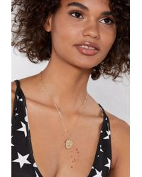 Nasty Gal - Pisces Star Sign Necklace - Lyst