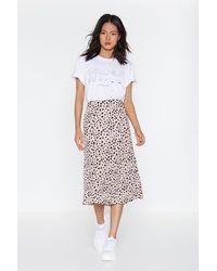 "Nasty Gal ""get The Upper Hound Dalmatian Midi Skirt"" - Purple"