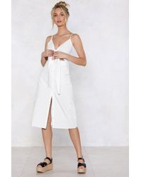 Nasty Gal - Cut-out The Middle Woman Midi Dress - Lyst