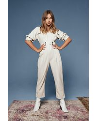 """Nasty Gal """"where You'd Faux Leather Be Boilersuit"""" - Multicolour"""