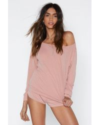 Nasty Gal Cool Your Jets Ribbed Top And Shorts Lounge Set - Pink