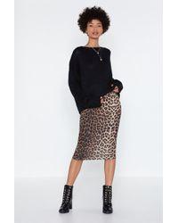 "Nasty Gal - ""give 'em Cat-itude Leopard Skirt"" - Lyst"