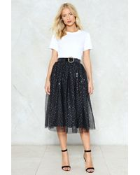Nasty Gal | Rise And Sparkle Sequin Tulle Skirt | Lyst