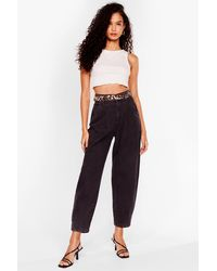 Nasty Gal High Waisted Tapered Jeans - Black