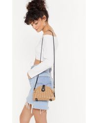 Nasty Gal Want Straw And Order Crossbody Bag - Multicolour