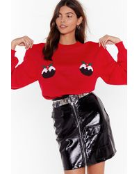 Nasty Gal Proof Is In The Pudding Christmas Sweater - Red