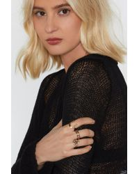 Nasty Gal - Lay Down The Law 3-pc Ring Set - Lyst