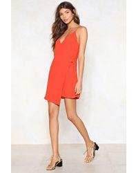 Nasty Gal - Wrap Up Mini Dress - Lyst