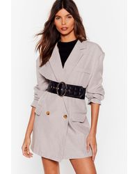 """Nasty Gal """"oval And Out Oversized Quilted Belt """" - Black"""