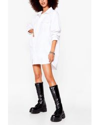 Nasty Gal Lace-up Your Shoe Game Cleated Knee High Boots - Black