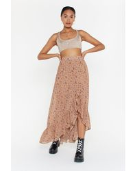 """Nasty Gal """"on A Flower Trip Floral Maxi Skirt"""" - Multicolour"""