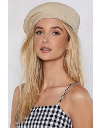 Nasty Gal - Gimme Gimme Straw Beret - Lyst