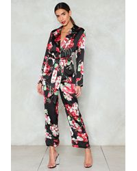 Nasty Gal - Good To Grow Floral Trousers - Lyst