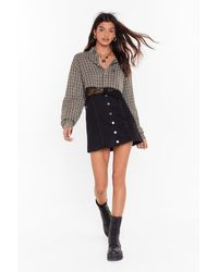 Nasty Gal Vintage No Ifs Ands Or Button-down Skirt - Black