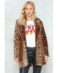 Nasty Gal Animal Faux Fur Coat Animal Faux Fur Coat - Brown