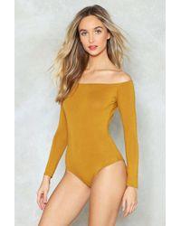 Nasty Gal   Sri Off Shoulder Bodysuit Sri Off Shoulder Bodysuit   Lyst