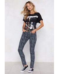 """Nasty Gal """"the Lovecats Leopard Jeans"""" - Gray"""