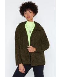 Nasty Gal - Get The Feel Of Things Faux Fur Coat - Lyst