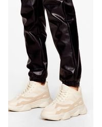 Nasty Gal Faux Suede High Top Chunky Sneakers - Multicolor